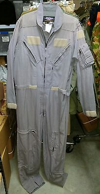 Grey Flight Suit Nomex Coveralls - Usa Made Great Used Condition