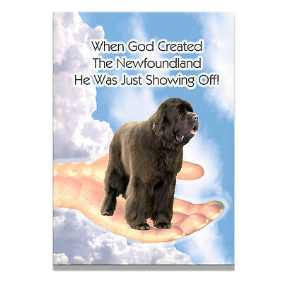 NEWFOUNDLAND God Showing Off FRIDGE MAGNET Brown No 1