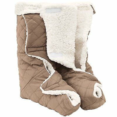 Jobar Leg And Foot Warmers, Plush Lining Large Light Brown With Cream Plush New