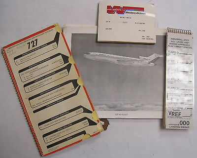 B-727-200 Western Airlines Check List/ Maint. Guide, V Speeds/ United Photo Book