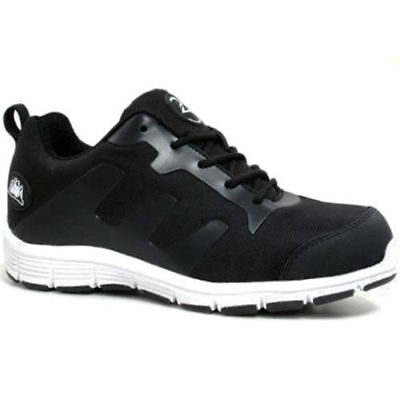 New Mens Groundwork Ultra Light Weight Safety Steel Toe Cap Trainers Work Shoes