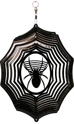 SWEN Products HOLIDAY HALLOWEEN SPIDER Web Metal Wind Spinner