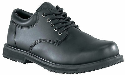 New Grabbers G1120 Men's Black Leather Friction Work Shoes