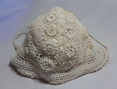 Pretty Antique Crochet Baby Bonnet