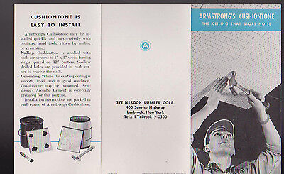 Armstrong Cushiontone Ceiling that Stops Noise Brochure 1949