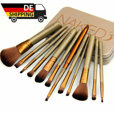 DE Lager 12pcs Make-up Kosmetik Bürste Set Lidschatten Eyeliner Puderpinsel