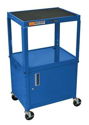 Luxor Steel Adjustable Height AV Cart w/ Cabinet AVJ42C-RB Cart NEW