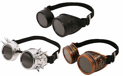 Cyber Steampunk Goggles Welding Gothic Fancy Dress Vintage Retro Cosplay Glasses