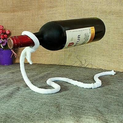Magic Illusion Floating Lasso Rope Wine Bottle Holder Stand Rack Home Decoration