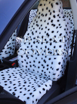 To Fit A Ford Puma Car, Seat Covers, Dalmatian Faux Fur Full Set