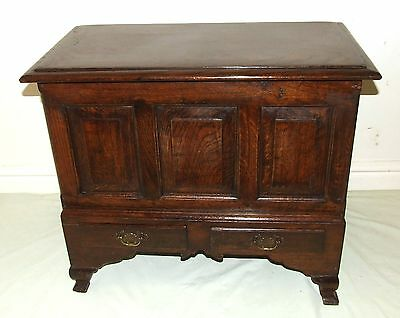 Panelled SOLID Oak Coffer Bach Box Toy Storage Coffee Table : Antique Style
