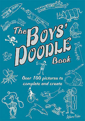 NEW the BOYS DOODLE BOOK amazing pictures to create and complete £10