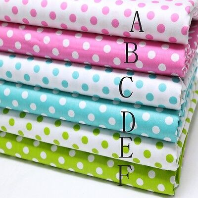 50cm*160CM Polka Dot 100%cotton fabric Quilting Quilt Clothes Bedding Sewing 03