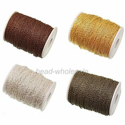 5m/100m Cable Open Link Iron Metal Chain Jewelry Findings For Necklace Making