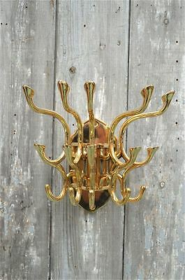 Superb large brass ocean liner swivel multiple coathook rack coat hook cabin MH2