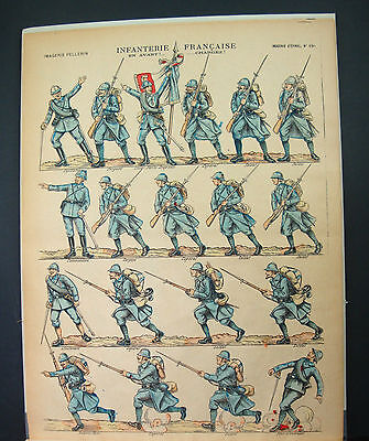 Image D' Epinal Infanterie Francaise N°150 Militaire France Old Armee Planche