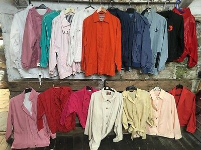 Light Summer Vintage 80s Cotton Jackets Members Only 70s Job Lot Anorak J373
