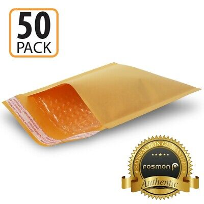 50 pcs 12x16 12x15 Large Kraft Bubble Padded Envelope Mailer Shipping Self Seal