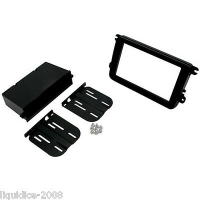 CT24VW09 VOLKSWAGEN POLO 2009 to 2014 BLACK DOUBLE DIN FASCIA ADAPTER KIT
