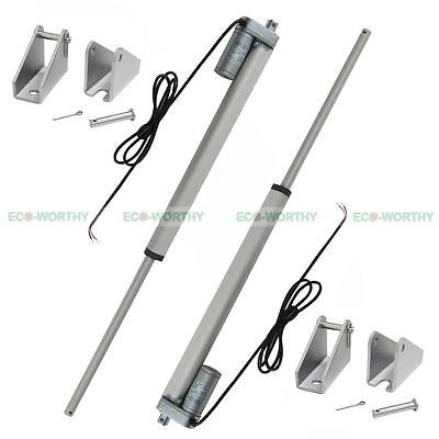 """2 Pieces 12 Volt 350mm 14"""" Linear Actuator Multi-purpose for Chemical Industry"""