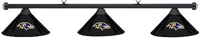 NFL Baltimore Ravens Black Metal Shade & Black Bar Billiard Pool Table Light