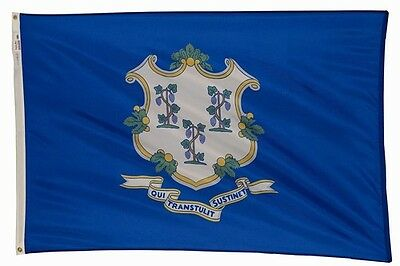 3'x5' CONNECTICUT State Flag Made In USA Heavy Duty Perma-Nyl Nylon Valley Forge