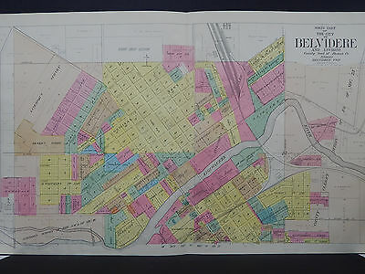 Illinois, Boone County Map, 1923 City of Belvidere, Two Double Page Maps O1#02