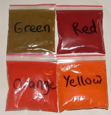 CHRISTMAS FOOD COLOURING CONCENTRATE COLOUR Green Yellow Orange Red - cake floss
