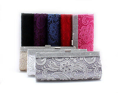 Women's Rhinestone Handbag Clutch Party Purse Makeup Bag Evening Bag