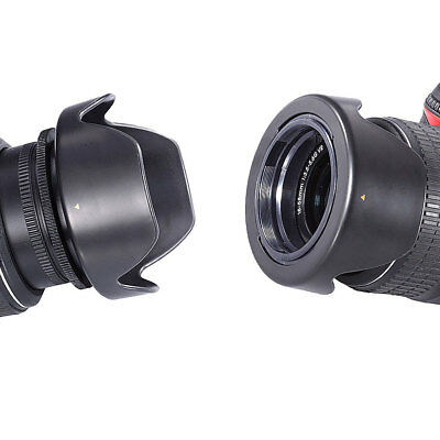 52mm Hard Tulip Reversible Lens Hood for NIKON D3100 D3200 D3300 D90 D7100 D600