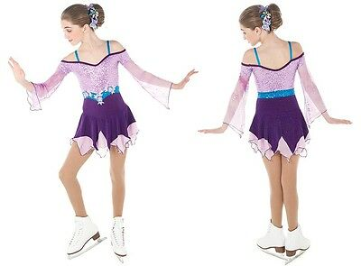 NEW COMPETITION SKATING DRESS Elite Xpression Purple Lilac 1470 10-12 CL