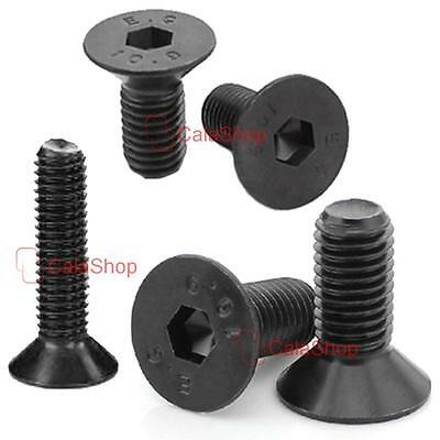Metric M4 Hex Socket screw flat head Hexagon cap screws bolt Carbon steel Metal