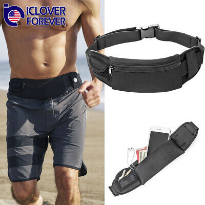 Waterproof Sport Waist Belt Bum Pouch Fanny Pack Camping Running Hiking Zip Bag