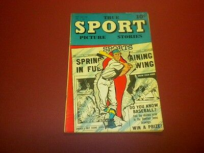 TRUE SPORT PICTURE STORIES Volume 4 #1 Street & Smith 1947