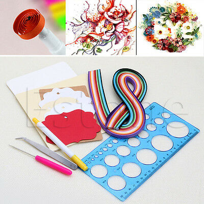 Paper DIY Set Quilling Tools Template Mould Board Tweezer Awl Tool Kit