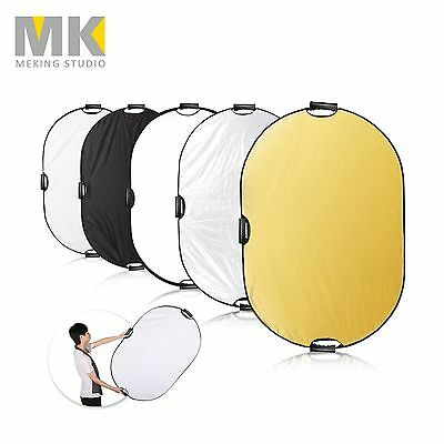 Photography 5in1 Light Mulit Collapsible Portable Photo Oval Reflector 80x120cm