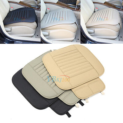 PU Leather Bamboo Charcoal Car Seat Cover Pad Mat for Auto Office Chair Cushion