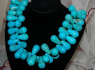 15x25mm fine polished 20 drop Turquoise beads