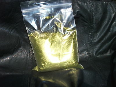 metal flake bright gold double size 100 grams