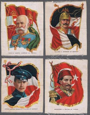 1910 ITC SC-9 Rulers With Flags Tobacco Silks Lot of 29