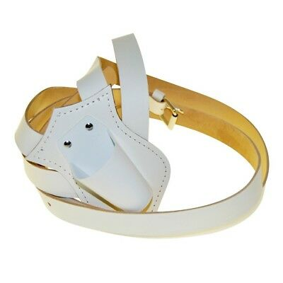 Parade Carrying Belt Sling Color Guard White Leather Double