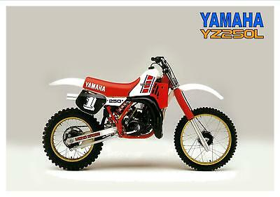 YAMAHA Poster YZ250 YZ250L 1984 VMX Vintage Motocross Suitable to Frame