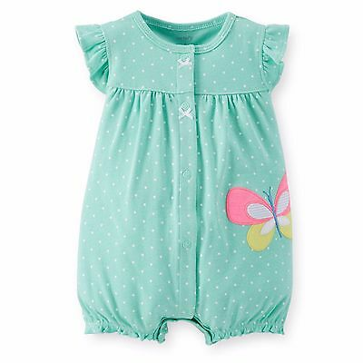 Carters Newborn 6 9 12 18 Months Butterfly Romper Baby Girl Clothes Bodysuit