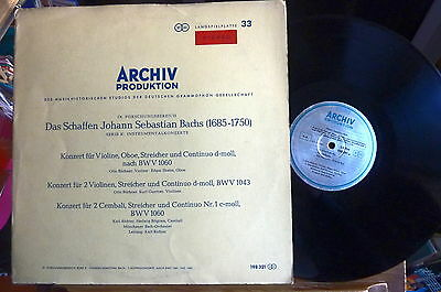 1963 RARE ARCHIV RED STEREO 198 321 JS BACH Double Concertos Violin Oboe Hpsd NM