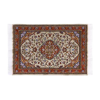 Dolls House Miniature Rug Floor Carpet Furniture Vintage Turkish Woven Floral