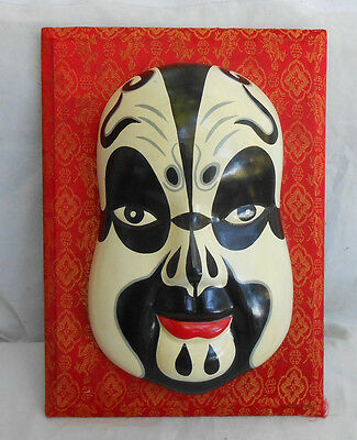 Chinese Porcelain Mask Lucky Statues opera mask handmade vintage Beijing antique