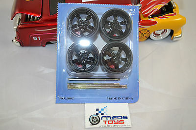 1:24 or 1:18 scale BK Star Rims and Tyre set ( 4 pcs )