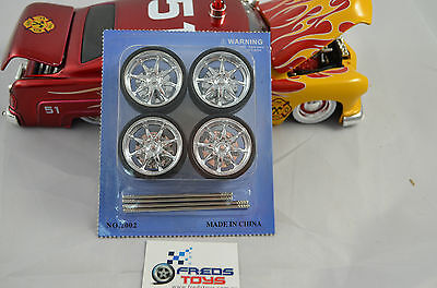 1:24 or 1:18 scale Star Rims and Tyre set ( 4 pcs )
