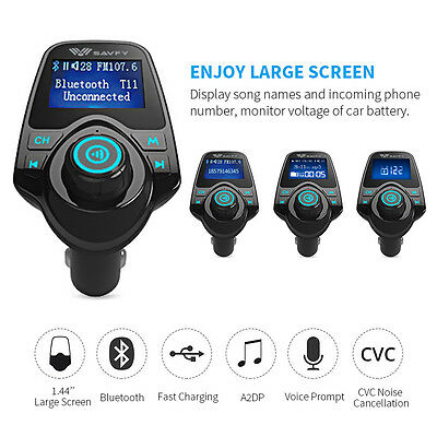 Bluetooth 3.0 Wireless FM Transmitter MP3 Player Hands-free Car kit USB Charger