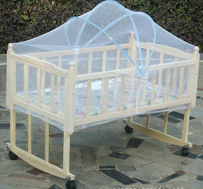 Baby Nursery Crib Furniture Arch Cradle Bed Infant Kids Mosquito Net 39X23.6''